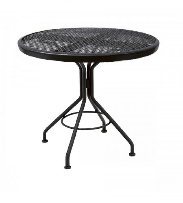 cafe series textured black contact + 30 round bistro table