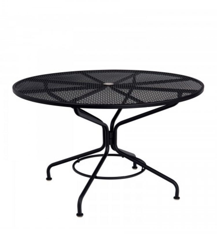 cafe series textured black contract + 48 round mesh top umbrella table