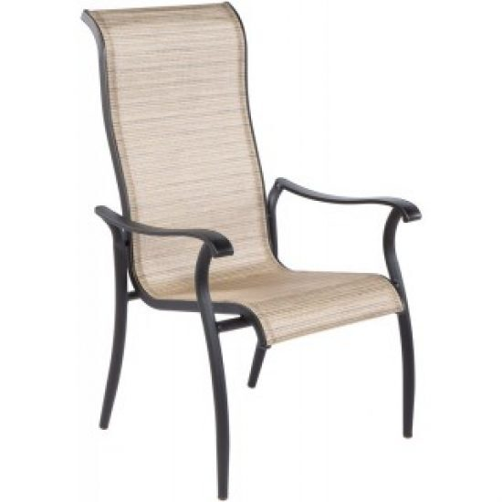 CHARTER HI-BACK SLING CAST STACKABLE DINING ARM CHAIR