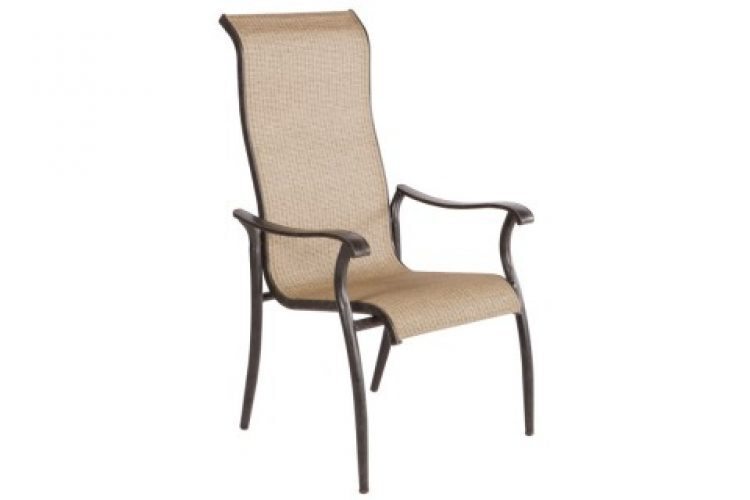 charter stackable sling dining arm chair antique fern