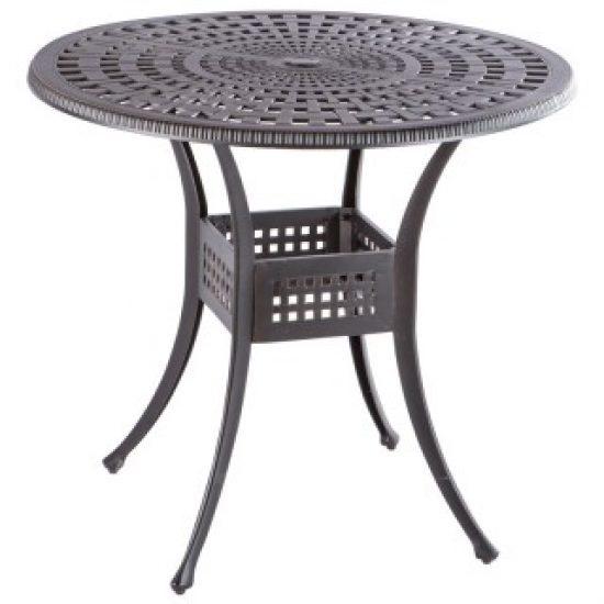 "COBBLESTONE 42"" ROUND GATHERING TABLE WITH UMBRELLA HOLE - ANTIQUE TOPAZ"