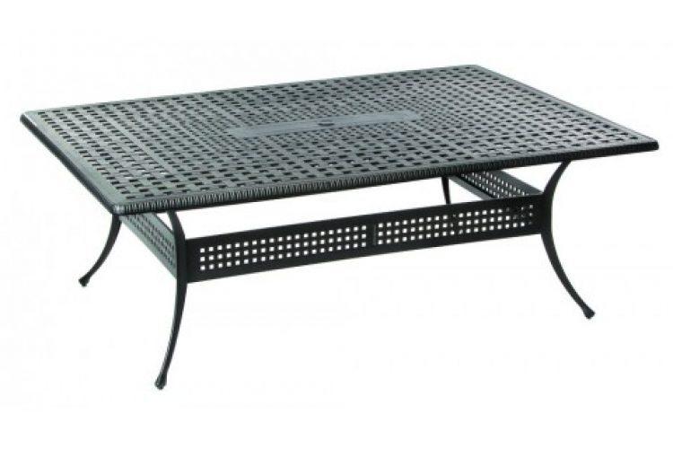 cobblestone 84 rectangular dining table with umbrella hole