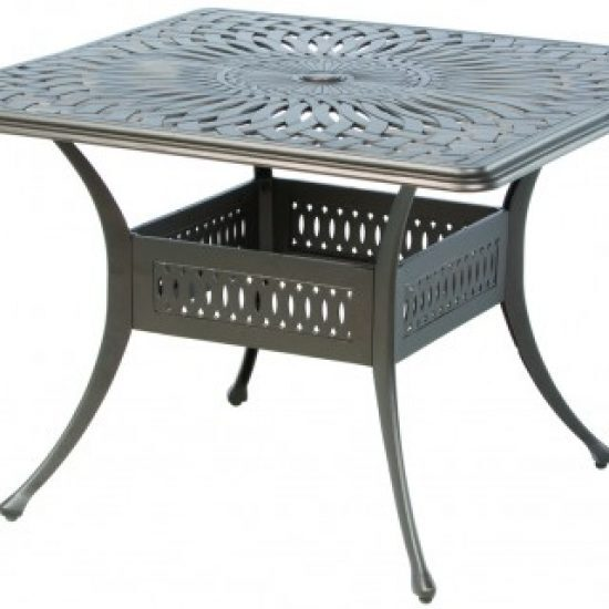 """FLORENTINE 42"""" SQUARE DINING TABLE WITH UMBRELLA HOLE"""