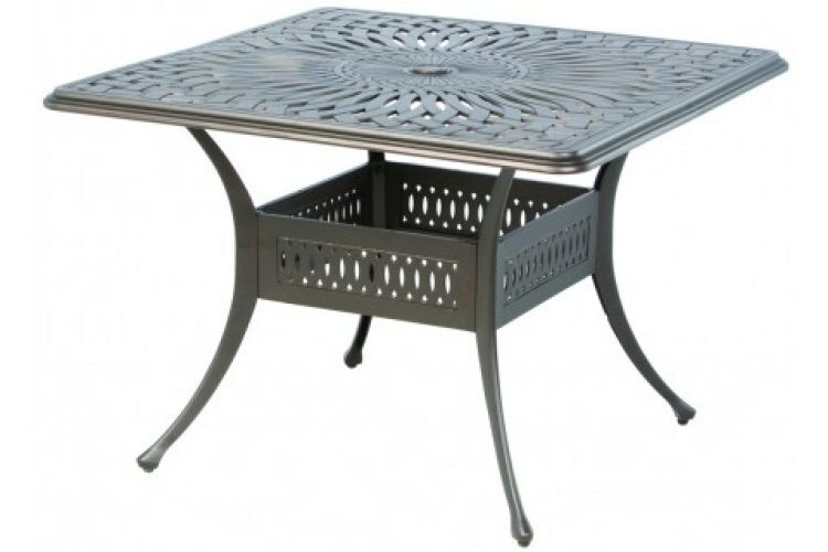 florentine 42 square dining table with umbrella hole