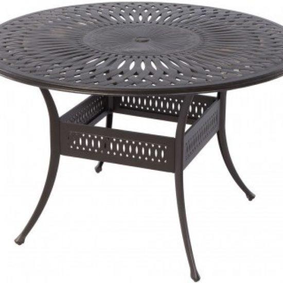 "FLORENTINE 60"" ROUND GATHERING TABLE WITH UMBRELLA HOLE"