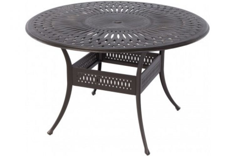 florentine 60 round gathering table with umbrella hole