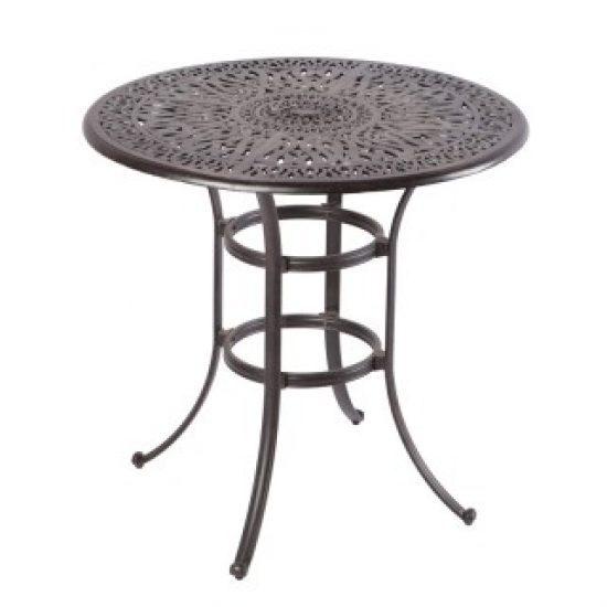 "KALEIDOSCOPE 42"" ROUND BAR TABLE WITH UMBRELLA HOLE - ANTIQUE WINE"