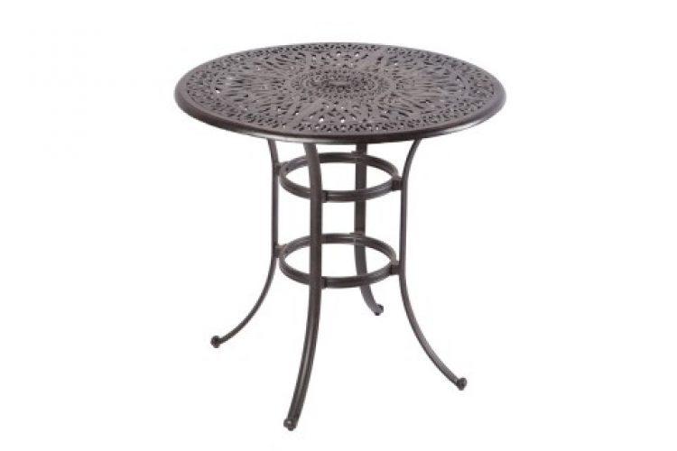 kaleidoscope 42 round bar table with umbrella hole antique wine