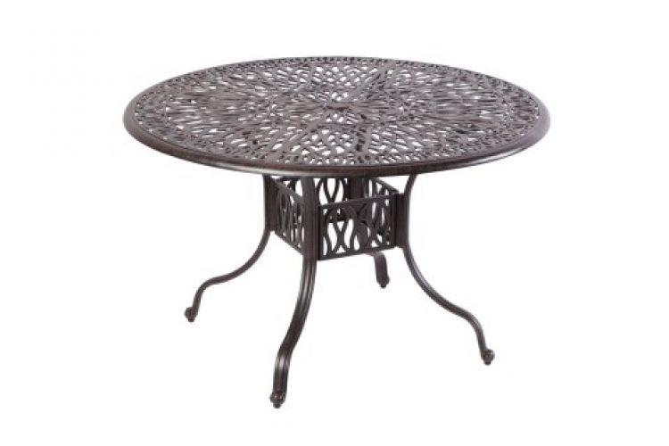 kaleidoscope 42 round gathering table with umbrella hole antique wine