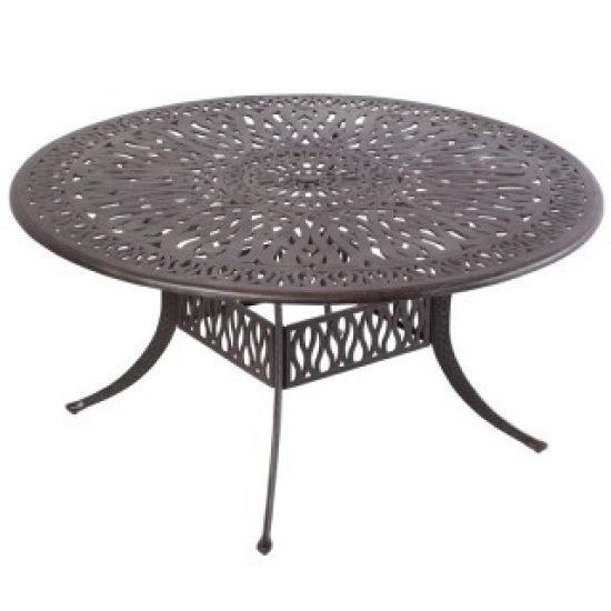 "KALEIDOSCOPE 48"" ROUND DINING TABLE WITH UMBRELLA HOLE - ANTIQUE WINE"