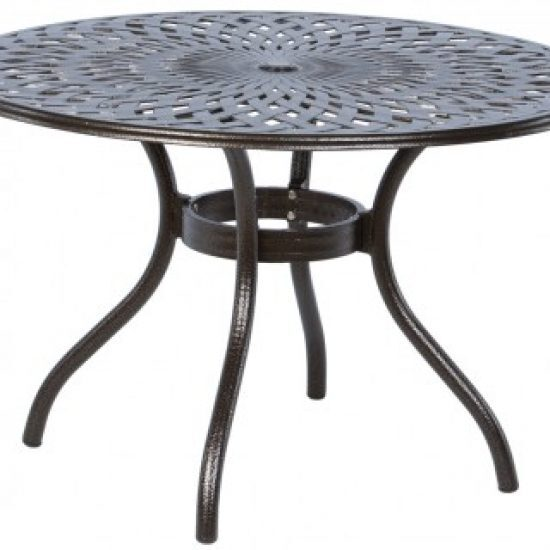 """KINGSTON WEAVE 48"""" ROUND DINING TABLE WITH UMBRELLA HOLE"""