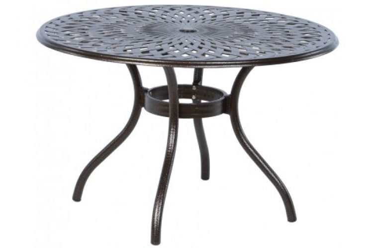 kingston weave 48 round dining table with umbrella hole