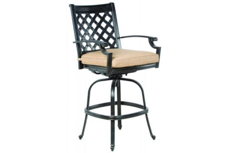 lattice bar swivel chair frame only