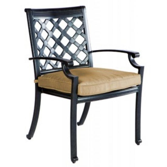 LATTICE STACKABLE DINING ARM CHAIR, FRAME ONLY