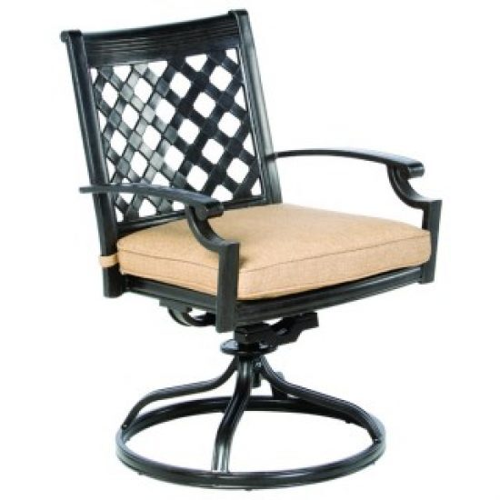 LATTICE SWIVEL DINING CHAIR, FRAME ONLY
