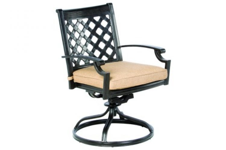 lattice swivel dining chair frame only