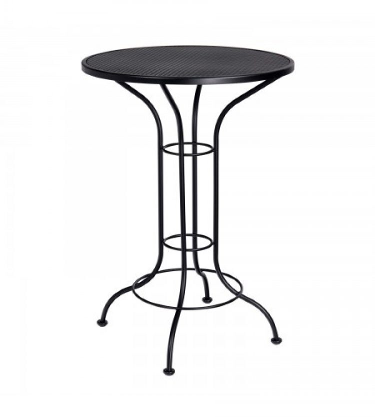 mesh top 30 round bar height table