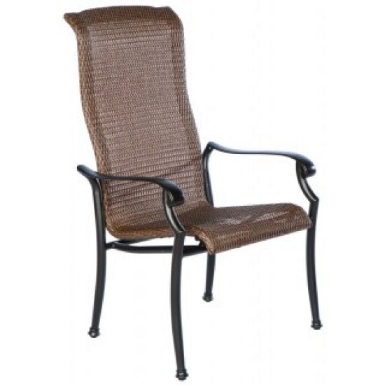 NAPLES HI-BACK STACKABLE DINING ARM CHAIR