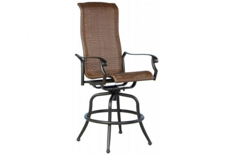 naples hi back swivel bar arm chair
