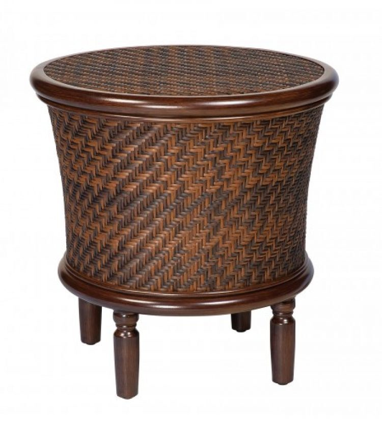 north shore round storage end table