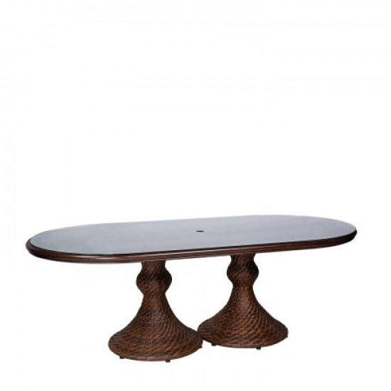 """North Shore Woven 42"""" X 84"""" Oval Dining Table"""