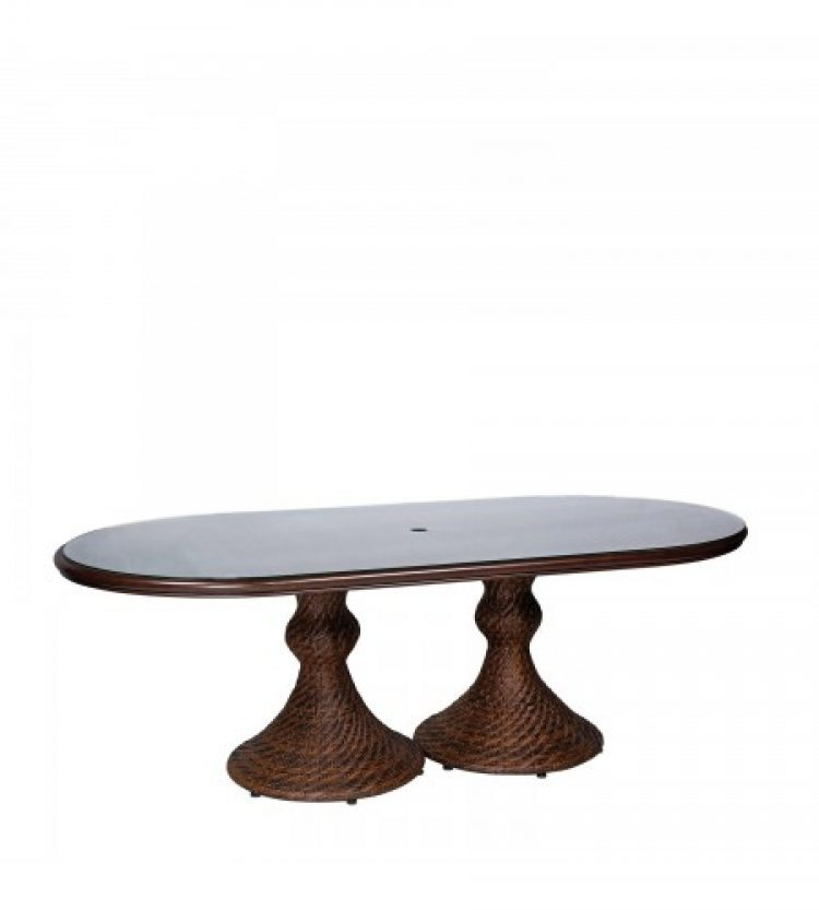north shore woven 42 x 84 oval dining table