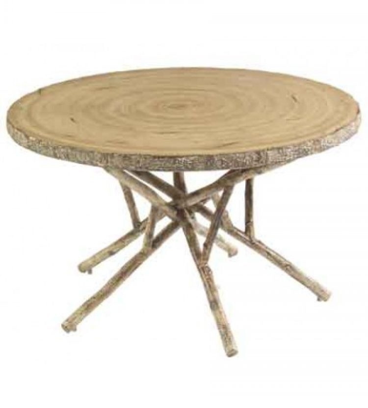 river run 48 round birch heartwood dining table