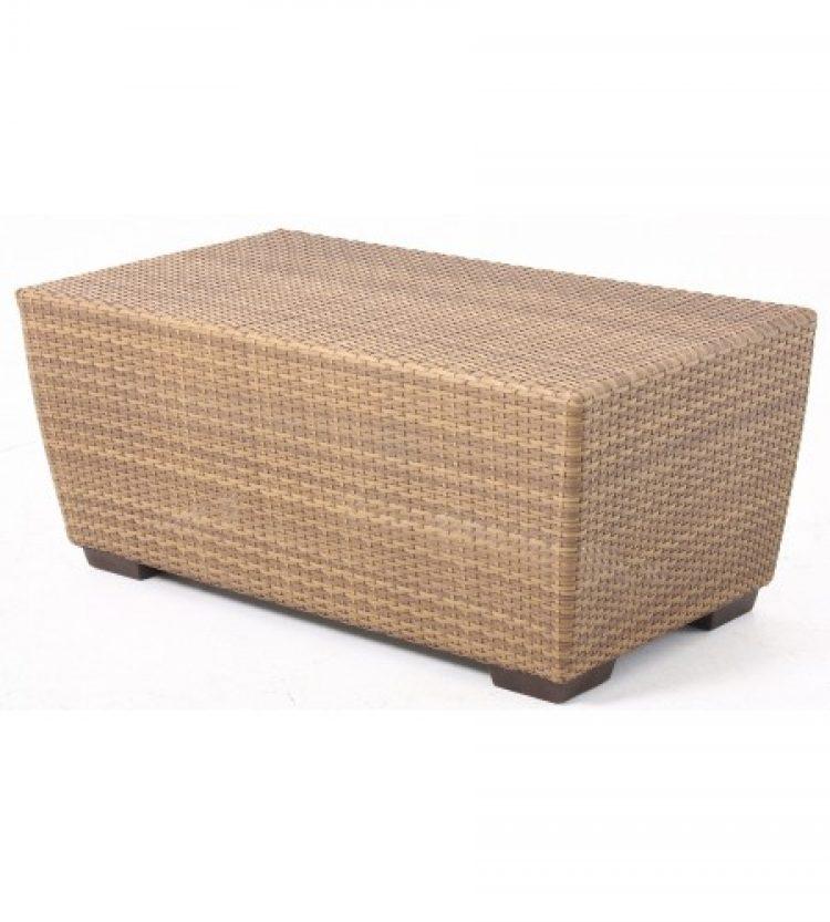 saddleback rectangular coffee table