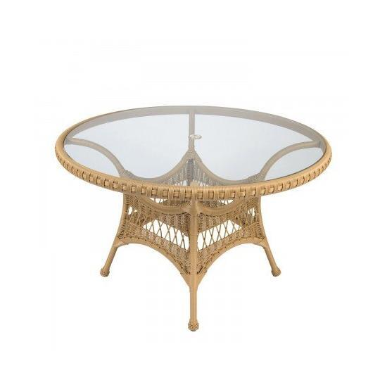 """Sommerwind 48"""" Round Umbrella Table With Glass Top"""