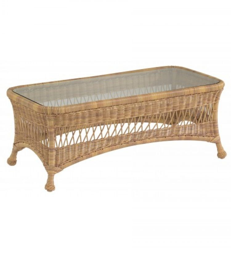 sommerwind coffee table with glass top