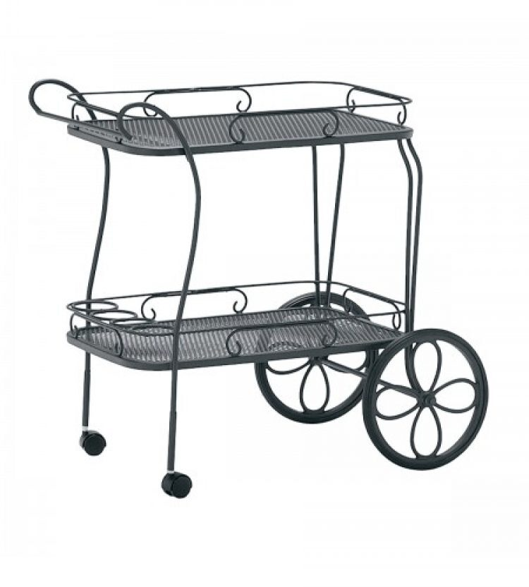 tea cart mesh top with removable serving tray