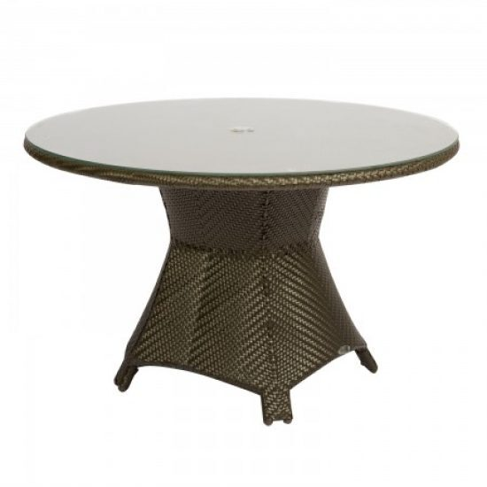 "Trinidad 48"" Round Umbrella Table With Glass Top"