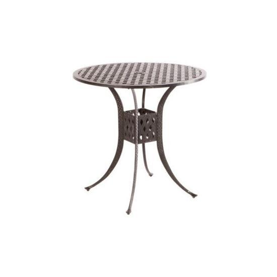 """WEAVE 42"""" ROUND BAR TABLE WITH UMBRELLA HOLE - ANTIQUE FERN"""