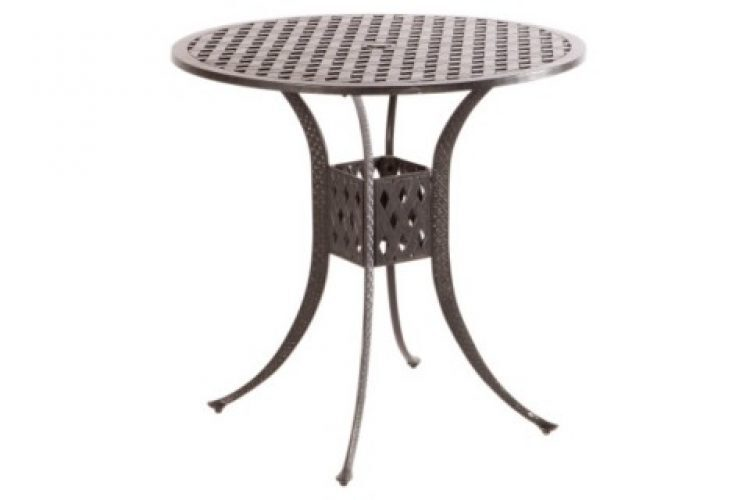 weave 42 round bar table with umbrella hole antique fern