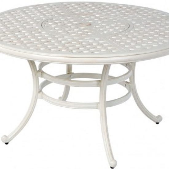 """WEAVE 52"""" ROUND DINING TABLE WITH UMBRELLA HOLE"""