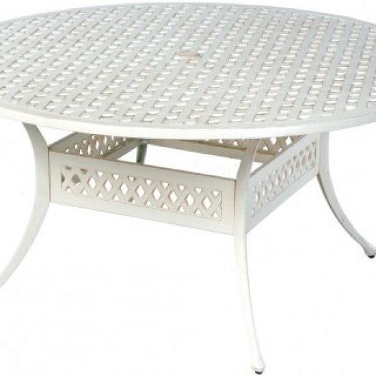 """WEAVE 60"""" ROUND DINING TABLE WITH UMBRELLA HOLE"""