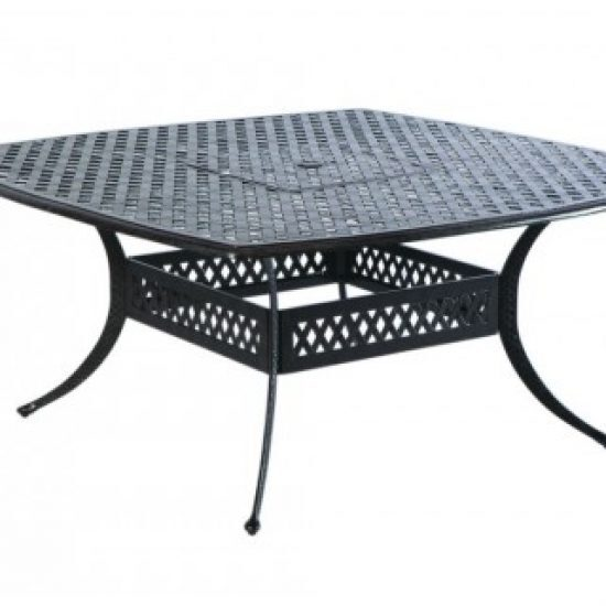 """WEAVE 64"""" SQUARE DINING TABLE W/ UMB. HOLE"""