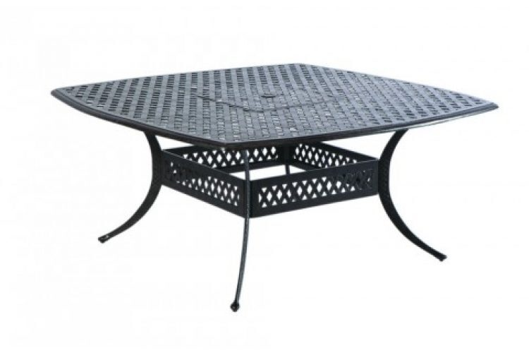 weave 64 square dining table w umbrella hole