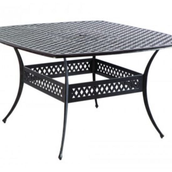 """WEAVE 64"""" SQUARE GATHERING TABLE W/ UMB. HOLE"""