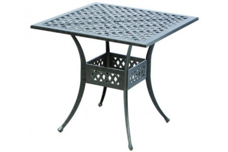 weave injection 40 square bar table with umbrella hole