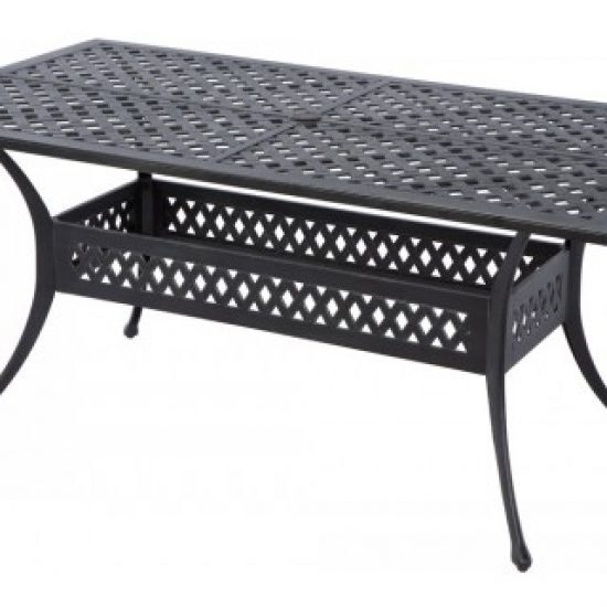 """WEAVE INJECTION 66.5"""" RECTANGULAR DINING TABLE WITH UMBRELLA HOLE"""