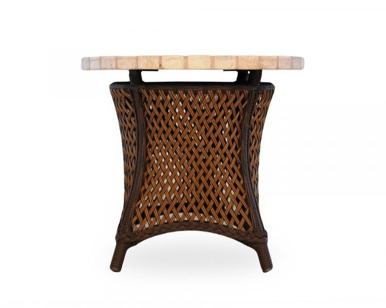grand traverse round end table