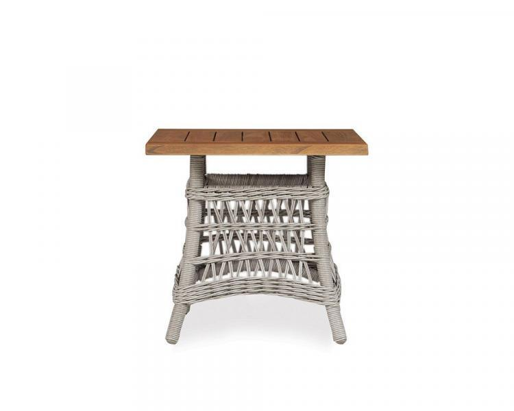 mackinac 24 square teak top end table