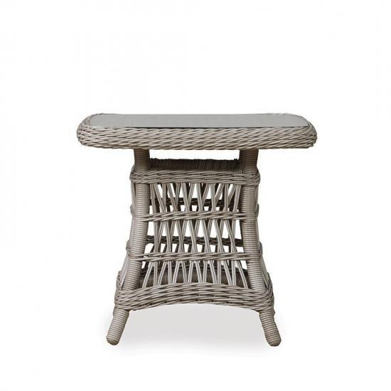"""MACKINAC 24"""" SQUARE WOVEN TOP END TABLE"""