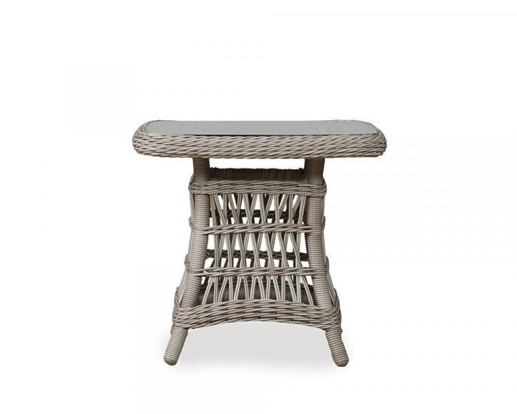 mackinac 24 square woven top end table