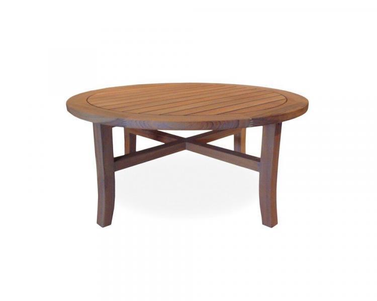 universal teak 40 round tapered leg cocktail table
