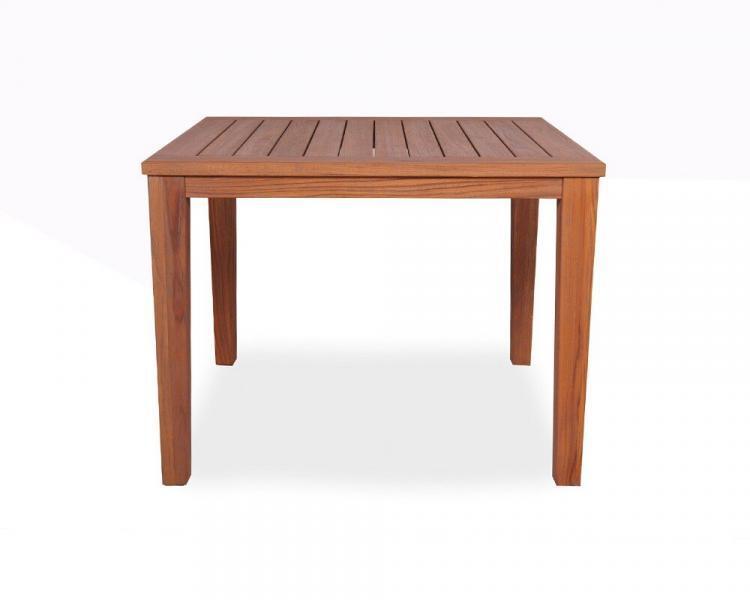 universal teak 40 square tapered leg dining table