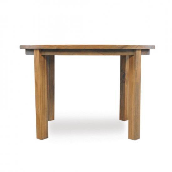 "UNIVERSAL TEAK 48"" ROUND PARSONS UMBRELLA TABLE"