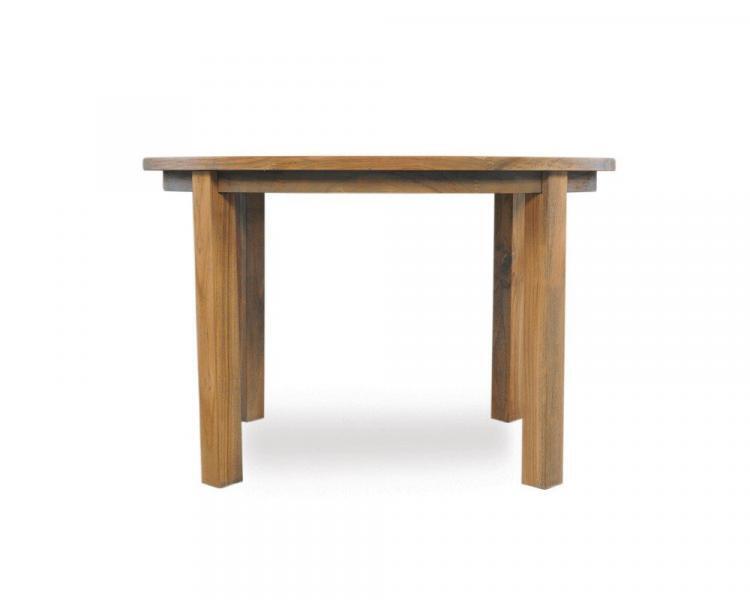universal teak 48 round parsons umbrella table