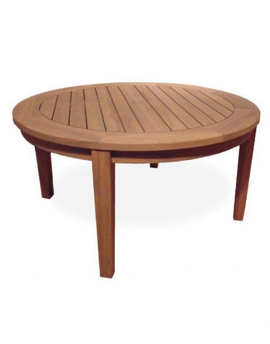 "UNIVERSAL TEAK 48"" ROUND TAPERED LEG CONVERSATION TABLE"